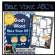 Bible Verse ABC's (God's Word Nautical Blue Chevron, Manuscript Print Edition)