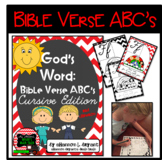 Bible Verse ABC's (God's Word Red Chevron, Cursive Edition)