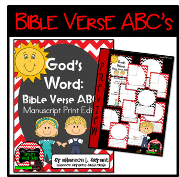 Bible Verse ABC's (God's Word Red Chevron, Manuscript Print Edition)