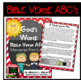 Bible Verse ABC's (God's Word Red Chevron, Manuscript Print Edition)