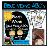 Bible Verse ABC's (God's Word Teal Chevron, Cursive Edition)