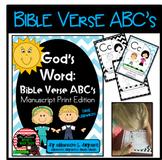Bible Verse ABC's (God's Word Teal Chevron, Manuscript Print Edition)