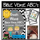 Bible Verse ABC's KJV (God's Word Black Chevron, Cursive Edition)
