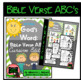 Bible Verse ABC's KJV (God's Word Green Chevron, Cursive Edition)