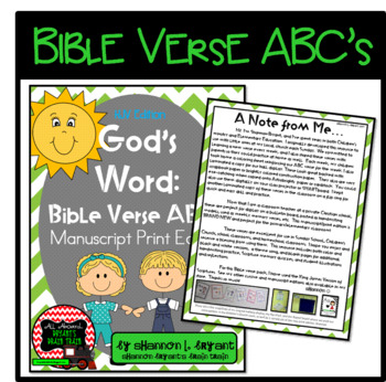 Bible Verse ABC's KJV (God's Word Green Chevron, Manuscript Print Edition)