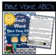 Bible Verse ABC's KJV (God's Word Nautical Blue Chevron, Cursive Edition)