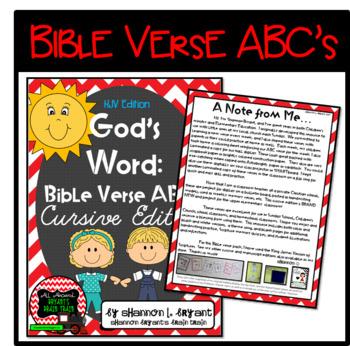 Bible Verse ABC's KJV (God's Word Red Chevron, Cursive Edition)