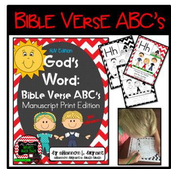 Bible Verse ABC's KJV (God's Word Red Chevron, Manuscript Print Edition)