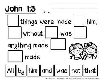 Bible Verse Activities