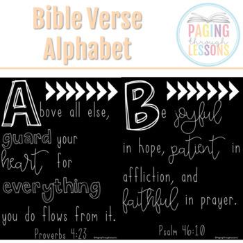 Bible Verse Alphabet Posters