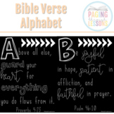Bible Verse Alphabet Posters