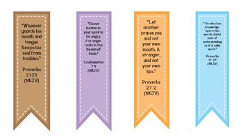 Bible Verse Book markers