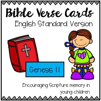 Bible Verse Cards - Genesis 1:1 Scripture Memory