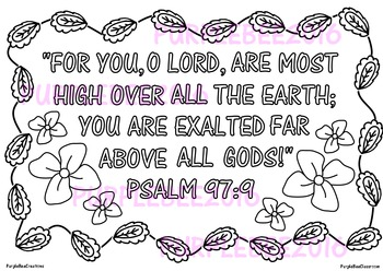 Bible Verse Coloring Page Psalm 97:9