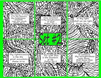 Bible Verse Coloring Pages Doodle Set #2