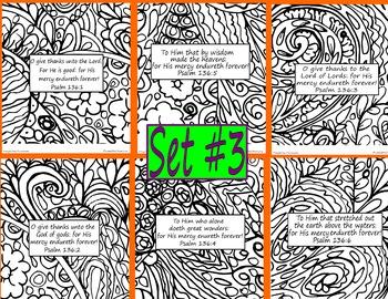 Bible Verse Coloring Pages Doodle Set #3