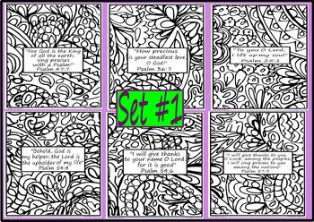 Bible Verse Coloring Pages Doodle Set #1