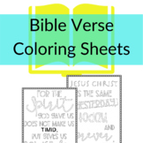 Bible Verse Coloring Sheets | Coloring sheets for Bible Cl