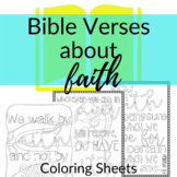 Bible Verse Coloring Sheets about Faith | Coloring sheets