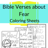 Bible Verse Coloring Sheets about Fear | Coloring sheets f