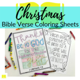 Bible Verse Coloring Sheets for Christmas