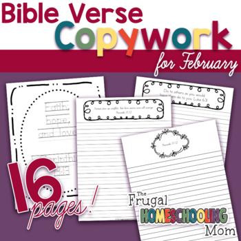 Bible Verse Copywork for February