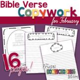 """February Bible Verse Copywork: """"Love"""" - Themed"""