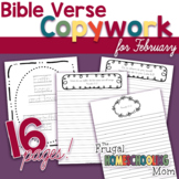 """Bible Verse Copywork for February - """"Love""""-Themed"""