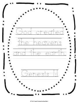 Bible Verse Copywork for January