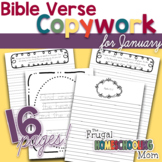 "Bible Verse Copywork for January - ""New Beginnings""-Themed"