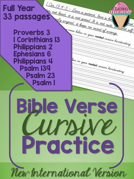 Bible Verse Cursive Practice