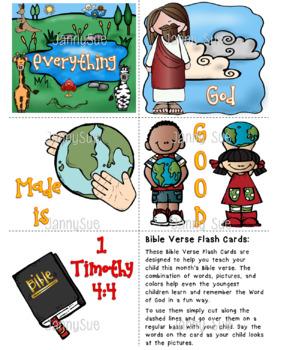 Bible Verse Flash Cards 1 Timothy 4:4