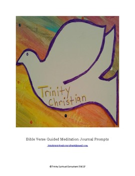 Bible Verse Guided Meditation Journal Prompts