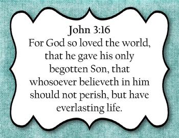 Bible Verse: John 3:16 (KJV)