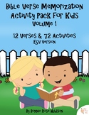 Bible Verse Memorization Activity Pack for Kids, Volume 1