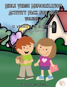 Bible Verse Memorization Activity Pack for Kids, Volume 2