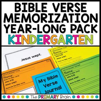 Bible Verse Memorization NO PREP Daily Work for Kindergarten