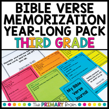 Bible Verse Memorization NO PREP Daily Work for Third Grade
