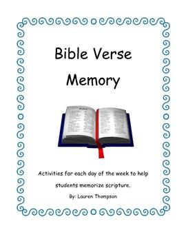 Bible Verse Memory Activity Packet