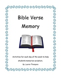 Bible Verse Memory Activity Packet