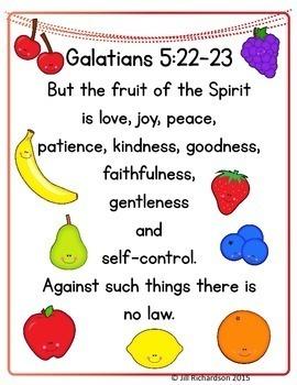 Bible Verse Memory Book and Poster!  Galatians 5:22-23