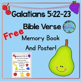 Bible Verse Memory Book and Poster!  Galatians 5:22-23