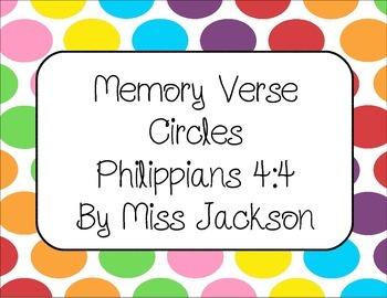 Bible Verse Memory Circles