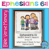 Father's Day Freebie : Bible Verse Memory Flipbook - Ephes