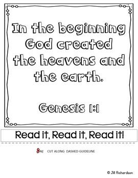 Bible Verse Memory Flipbook - Genesis 1:1