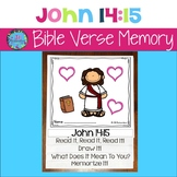 Bible Verse Memory Flipbook - John 14:15