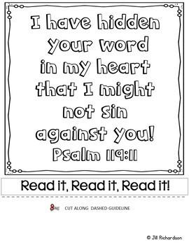 Bible Verse Memory Flipbook - Psalm 119:11
