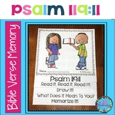 Bible Verse Memory Flipbook - Psalm 119:11