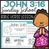 Bible Lesson John 3:16 Mini Book Preschool Christian Churc