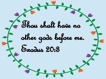 Bible Verse Poster: Exodus 20:3
